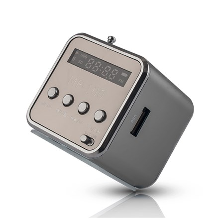 Rádio přenosné FOREVER MF-100 stříbrná