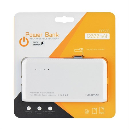 PowerBank 12000 mAh BLUE STAR DP633 bílá