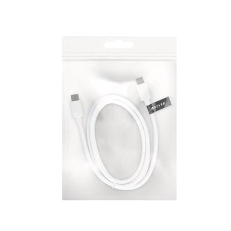 Kabel USB C-TYPE - USB C-TYPE bílý 1m FOREVER