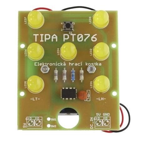 Stavebnice TIPA PT076 Elektronická hrací kostka