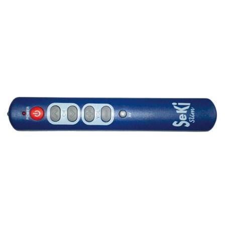 Ovladač dálkový  SEKI   SLIM modrý pro seniory - univerzální - velká tlačítka