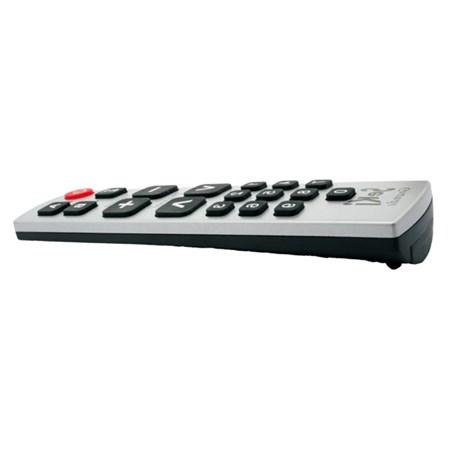 Ovladač dálkový  SEKI GRANDE černý/stříbrný pro seniory - univerzální - velká tlačítka