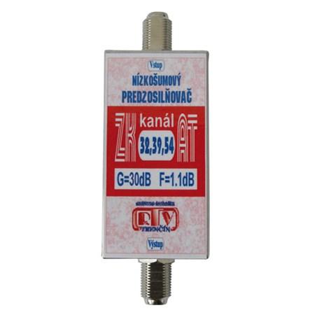 Anténní zesilovač ZK32,39,54AT 30dB  F-F