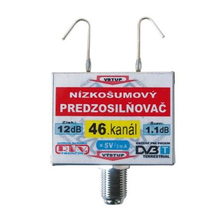Anténní zesilovač DVB-T 46K 5V 12dB  F
