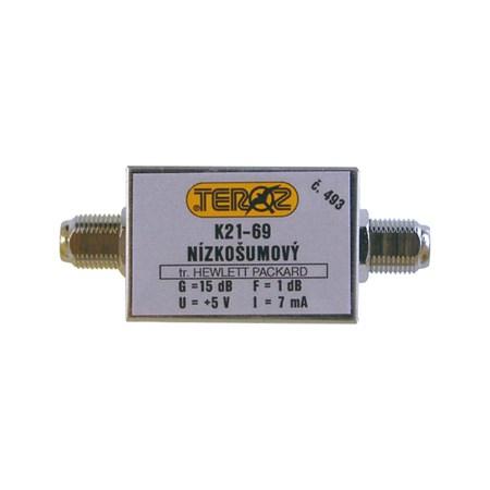 Anténní zesilovač UHF 15dB DVBT F-F Teroz