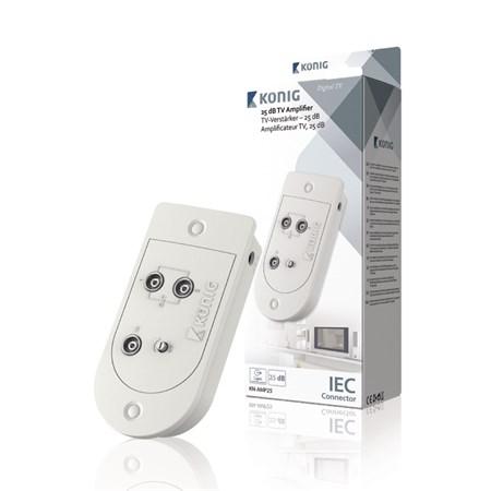Zesilovač TV signálu domovní 25 dB, 2 výstupy KÖNIG KN-AMP25