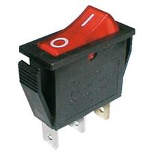 Přepínač kolébkový    2pol./3pin  ON-OFF 250V/15A pros. červený
