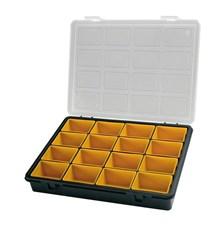 Krabička na součástky 242x188x37mm 16 vyjímatelných sekcí