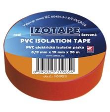 Izolační páska PVC 19/20m  červená