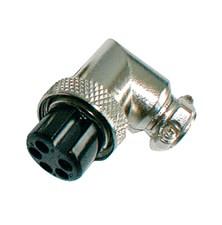 Zdířka MIC kabel kov 5PIN úhlová šroubovací