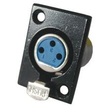 Zdířka MIC panel kov 3PIN black