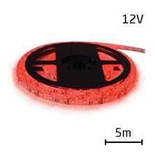 LED pásek 12V 5050  60LED/m IP65 max. 14.4W/m červená 5 m zalitý