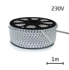 LED pásek 230V, 3528  60LED/m IP67 max. 4.8W/m STUDENÁ, cena za 1m, zalitý
