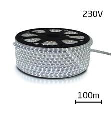 LED pásek 230V, 3528  60LED/m IP67 max. 4.8W/m bílá studená (cívka 100m) zalitý
