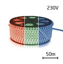LED pásek 230V, 5050  60LED/m IP67 max. 14.4W/m RGB (cívka 50m) zalitý