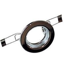 Svítidlo podhledové pevné chrom pro žárovku 50mm MR,GU