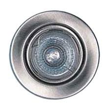 Svítidlo podhledové pevné chrom mat. pro žárovku 50mm MR,GU