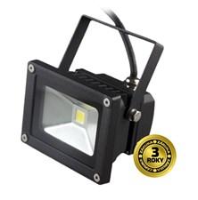 LED venkovní reflektor, 10W, 700lm, AC 230V, černá