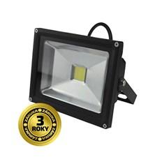 LED venkovní reflektor, 20W, 1400lm, AC 230V, černá SOLIGHT WM-20W-E