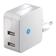 Adaptér   USB 5V/2x2,4A bílý DC41