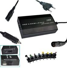 Nabíječka notebook 100W 240V/12V-24V/USB PATONA PT2536 univerzální