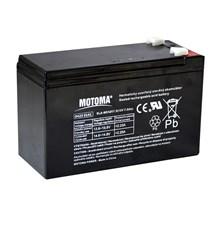 Baterie olověná  12V/ 7,5Ah  MOTOMA bezúdržbový akumulátor (konektor 6,35 mm)