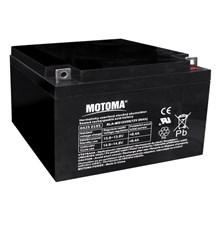 Baterie olověná  12V/28Ah  MOTOMA bezúdržbový akumulátor