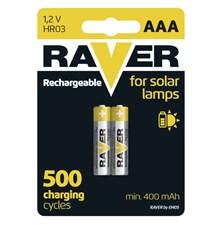 Baterie AAA(R03) nabíjecí RAVER solar 400mAh