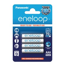 Baterie AAA (R03) nabíjecí Eneloop PANASONIC 1.2V / 750mAh 4kusy