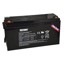 Baterie olověná 12V 150Ah MOTOMA pro soláry - Nadrozměrné zboží - nutno domluvit dopravu telefonicky