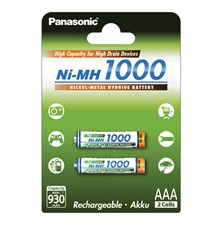 HR03 AAA 4HGAE/2BE HICAP 1000 PANASONIC, nabíjecí, 2 kusy