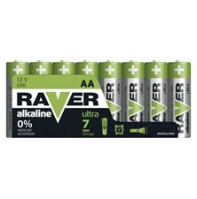 Baterie AA (R6) alkalická  RAVER