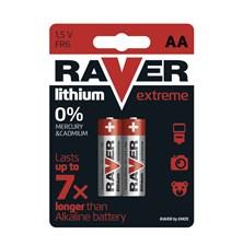 Baterie AA (R6) lithiová  RAVER