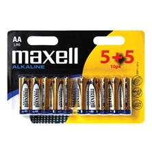 Baterie AA (R6) alkalická MAXELL (blistr 10ks)