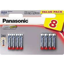 Baterie AAA(LR03) alkalická PANASONIC Everyday Power 8BP