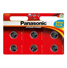 Baterie    CR2032 PANASONIC lithiová 6BP