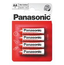 Baterie R6 (AA) Red  zinkouhlíková, PANASONIC 4BP