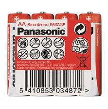 Baterie R6 (AA) Red  zinkouhlíková, PANASONIC 4S
