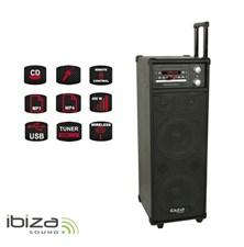 Řečnický systém s karaoke IBIZA PORT8CD-VHF přenosný