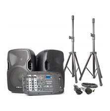 Řečnický systém aktivní 2x 10'' MP3-SD-USB-Bluetooth 300W Vexus PSS-302