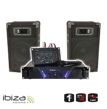 DJ PA set Ibiza DJ300 - zesilovač 182002a9a7e
