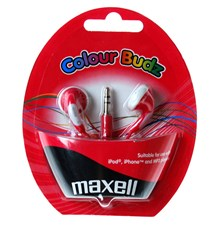 Sluchátka Maxell 303365 Colour Budz Red