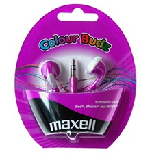 Sluchátka Maxell 303364 Colour Budz Purple