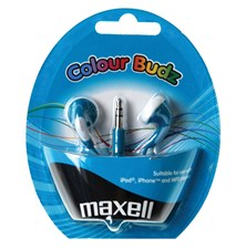 Sluchátka Maxell 303359 Colour Budz Blue