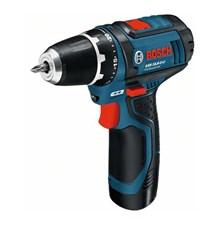 Vrtací šroubovák Aku Bosch GSR 12V-15 Professional - 2x AKU 2,0Ah, 0601868122