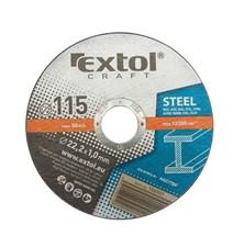 Kotouče řezné na kov, 5ks 115x1,0x22,2mm EXTOL CRAFT 106901