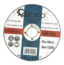 Kotouč řezný na ocel, 125x1,2mm, GEKO