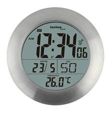 DCF digitální hodiny do koupelny Techno Line WT 3000, stříbrná