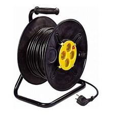 Prodlužovací přívod na bubnu - 4 zásuvky 50m 3x1,5mm2