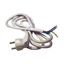 Flexo šňůra PVC 3x0,75mm 2m bílá